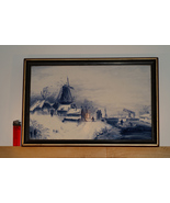Delftware Framed Winter Landscape  - $185.00