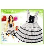 Cute Teen Girls' Tiered Dress with Dot Print an... - $10.00