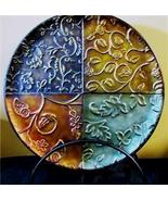 Bohemian Metal Charger with Easel Detailed Embo... - $35.63