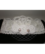 LITTLE GIRL BEAUTIFUL HANDMADE LACE WITH VEIL P... - $14.00