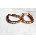 Technibond Inside Out Green CZ  Earrings - $45.97