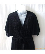 Long black short-sleeve belted robe and thin st... - $20.00
