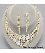 Mother of the bride elegant clear crystal eveni... - $35.63