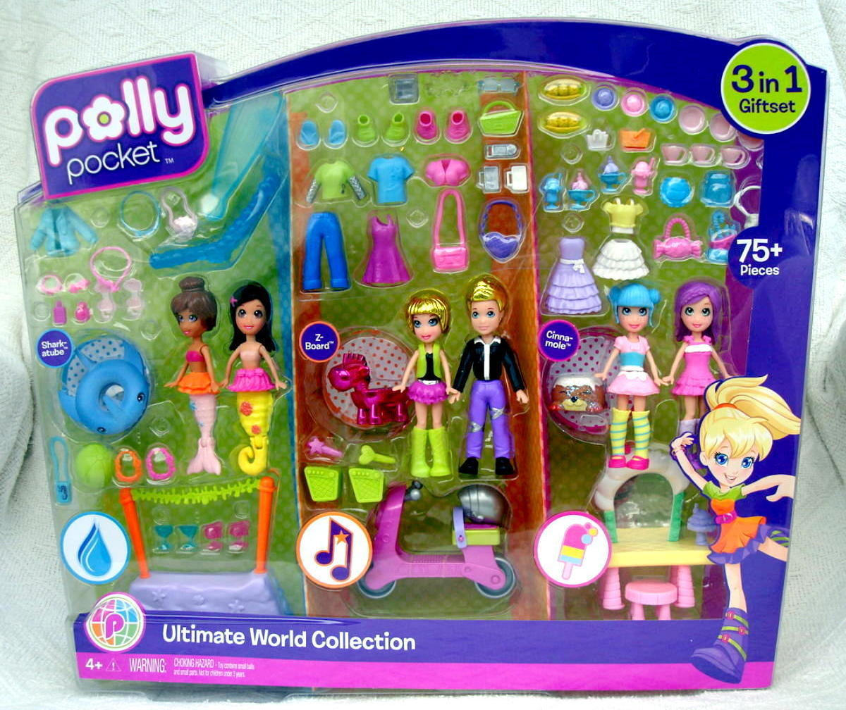 Polly Pocket Ultimate World Collection 75 Piece Playset