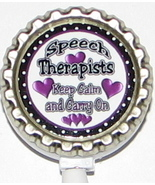 Speech Therapist PT ID badge holder w retractable reel pt,ot,st 5