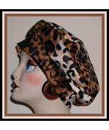 Leopard Beret Womens Hat Reversible Faux Fur Fleece Ladies Brown Cream Black