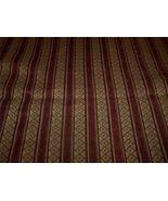 Burgundy Gold Stripe Fabric /Upholstery Fabric ... - $15.04