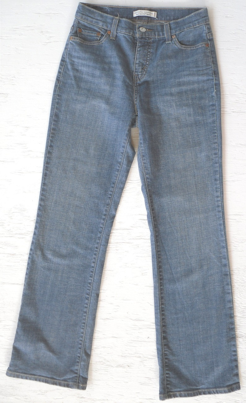 LEVIS 512 Perfectly Slimming Boot Jeans Womens 6 M