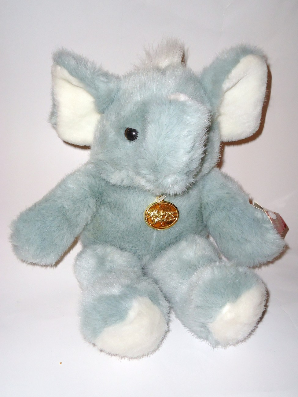 Walmart Elephant Plush Stuffed Animal Gray White Tb Trading Platinum Plus