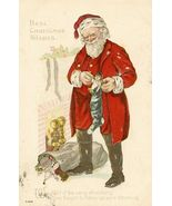 c.1916 CHRISTMAS Santa TOYS Stocking postcard P151 - $12.99
