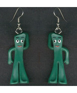 GUMBY EARRINGS - Vintage Retro Cartoon Toy Charm Costume Jewelry - $14.97