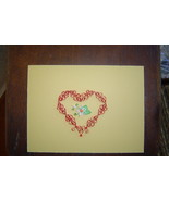 Paper Quill Heart and Flower,Ready to Frame.- H... - $9.99