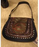 Just Cavalli Brown Leather Studded SHoulder Bag  - $200.00