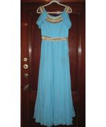 MARCHESA Turqoise Evening Grecian Goddess Gown... - $999.99