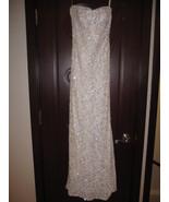 EMANUEL UNGARO White Beaded Formal Gown  $8990 ... - $1,700.00