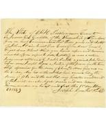 1843 Union Township, OHIO Document  Summons Aga... - $5.00