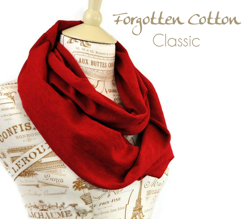 Antique Deep Rose Red Jersey Infinity Scarf