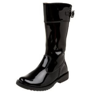 Primigi Marylou Tall Black Patent Boot 24 25 26 7.5 8 9