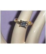 CZ Simulated Diamond Ring Princess Cut 14 KT HG... - $24.97
