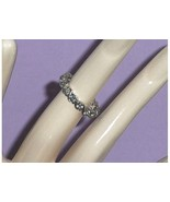 Sterling Silver Eternity CZ Simulated Diamond R... - $24.97