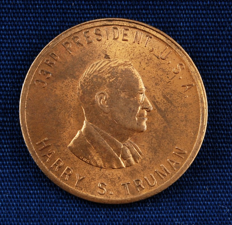 Us President Harry S Truman Commemorative Coin Used 1945