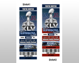 Buy Announcements - Custom 2011 SUPERBOWL PARTY photo Invitation Ticket
