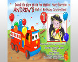 Buy Announcements - Boys Custom Photo Fire Truck Birthday Party Invitations