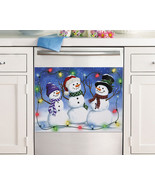 Glow In The Dark Trio Snowman Dishwasher Cover Magnet - $14.95