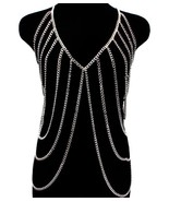 Body Chain Silver Armor Draping Chains Avant Ga... - $26.99