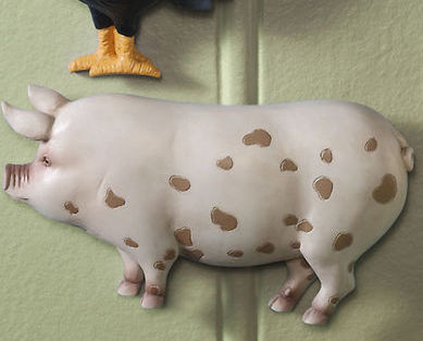 Country Farm Animal Wall Decor Pig