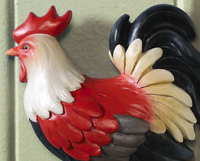 Image 1 of Country Farm Animal Wall Decor Rooster