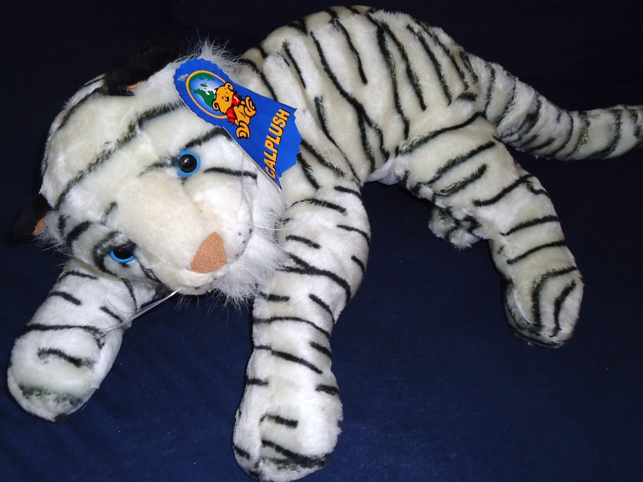 Calplush White Tiger Realistic Plush Stuffed Animal Toy Large Jungle Cat