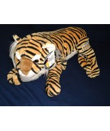 Disney Animal Kingdom Tiger Lying Down Realistic Plush Stuffed Animal Tags Large - $13.50
