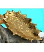 Vintage 22K Weeping Gold Leaf Pottery Dish Dixo... - $22.95