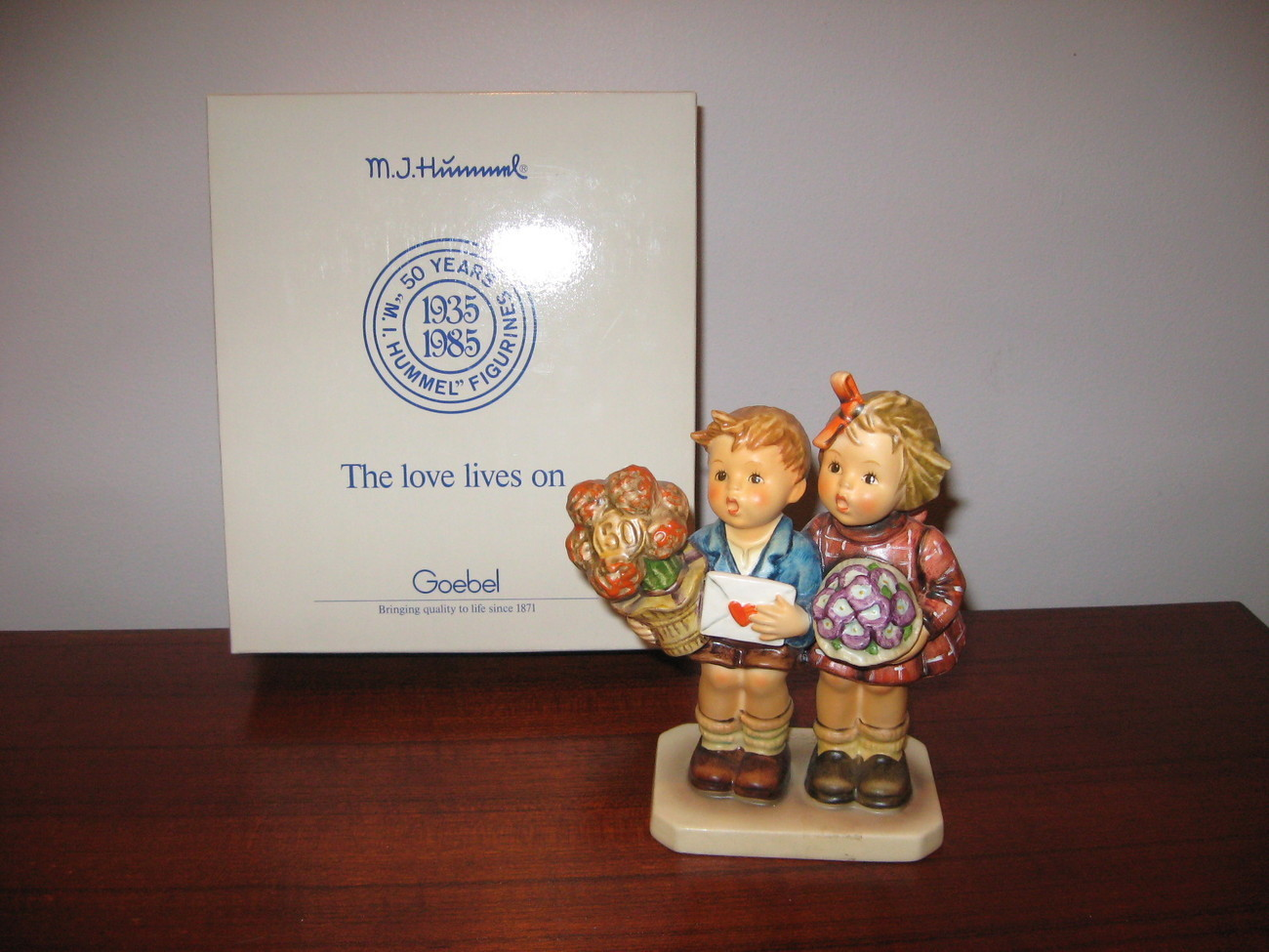 MI Hummel Figurine The Love Lives On 50 years