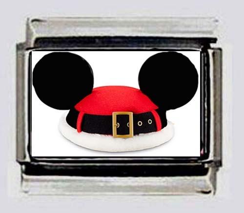 mickey mouse disney santa hat 9mm photo italian charms for