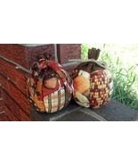 Handmade Fall Pumpkins Leaves Acorns Indian Cor... - $21.50