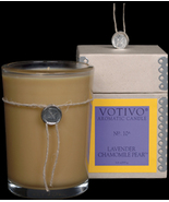 Vovivo Aromatic Glass Candle - Lavender Chamomile Pear, No. 10