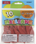 "Ballons rouges 12"" 10 par paquet"