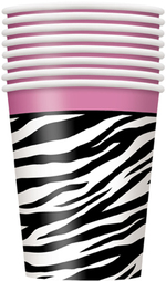 Verre en carton Zebra passion 9oz 8 par paquet