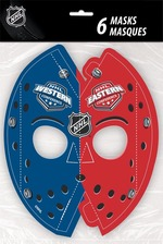 Masques de gardien de but Nhl en carton 6 par paquet