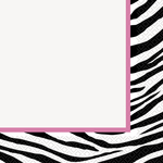 Serviettes de table Zebra passion 20 par paquet