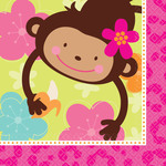 Serviette de breuvage Monkey love