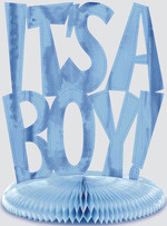 Centre de table bleue ''IT'S A BOY''