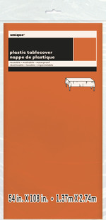 "Nappe en plastique orange 54"" X 108''"