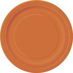 Assiette en carton orange 9'' 16 par paquet