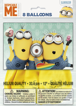Ballons Despicable me 2 12''  8 par paquet
