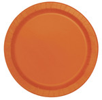 Assiettes en carton orange 7'' 20 par paquet