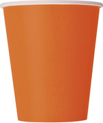 Verres en carton orange 9 oz.  8 par paquet