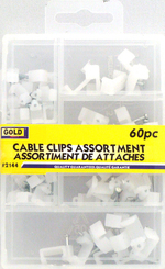 Assortiment d'attaches 60 par paquet